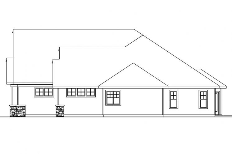 Craftsman House Plan - Cauldwell 88313 - Right Exterior