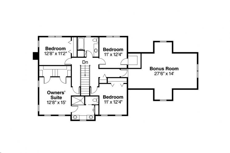 Southern House Plan - Lorane 88395 - 2nd Floor Plan