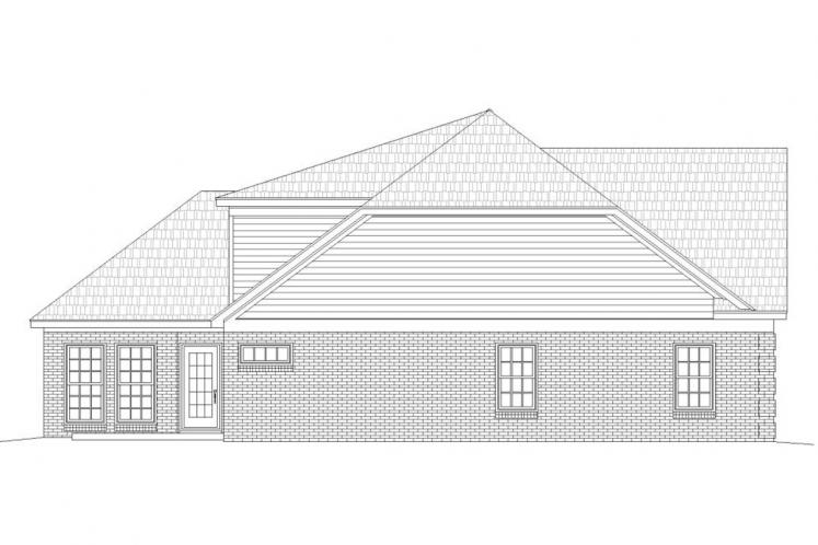 Ranch House Plan -  88468 - Left Exterior