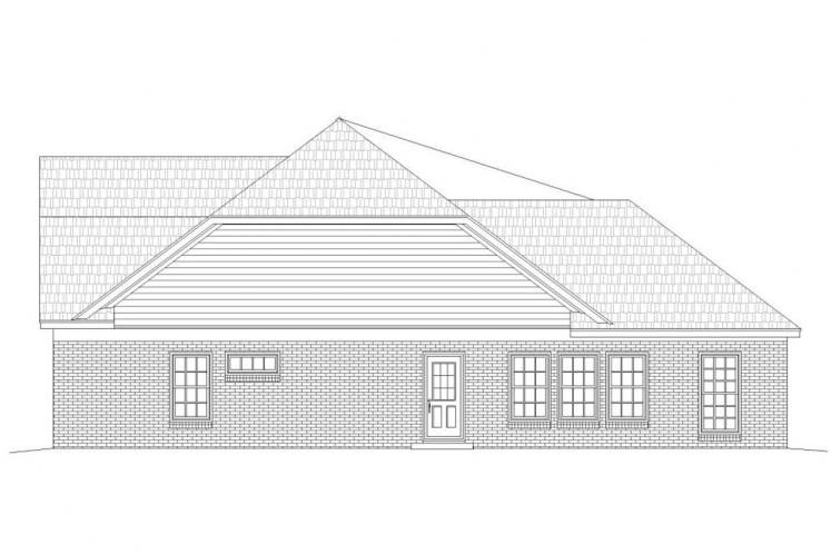 Traditional House Plan -  88468 - Right Exterior
