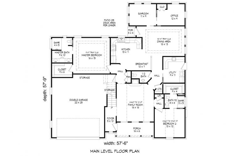 European House Plan -  88468 - 1st Floor Plan