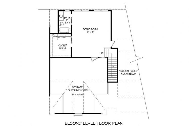 Ranch House Plan -  88468 - 2nd Floor Plan
