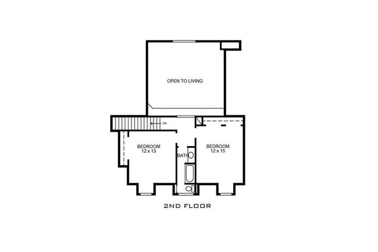 Country House Plan - Leander 88530 - 2nd Floor Plan