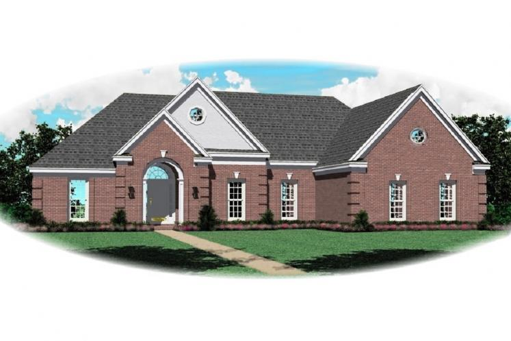 European House Plan -  88569 - Front Exterior