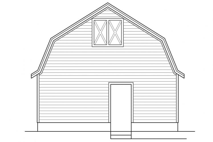 Country Garage Plan -  88683 - Left Exterior
