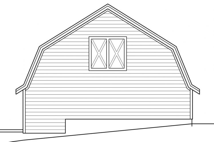 Traditional Garage Plan -  88683 - Right Exterior