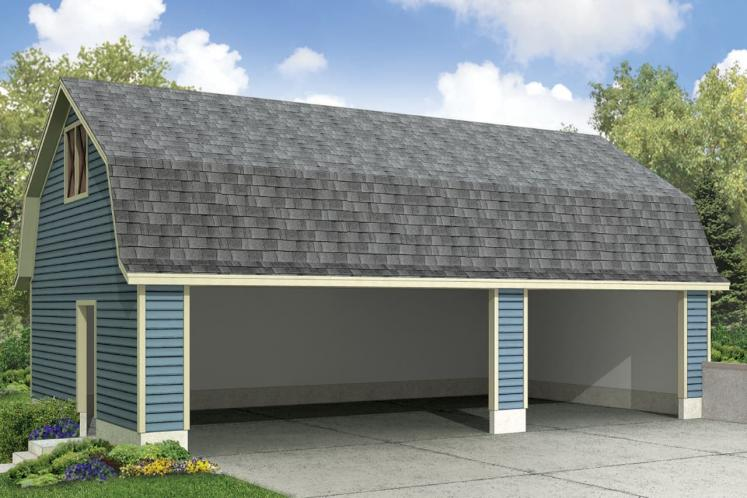 Country Garage Plan -  88683 - Front Exterior