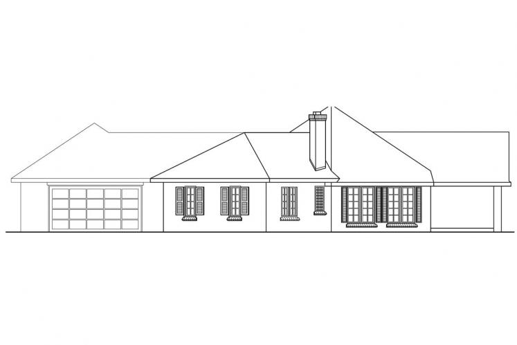 Ranch House Plan - Hamilton 88844 - Right Exterior