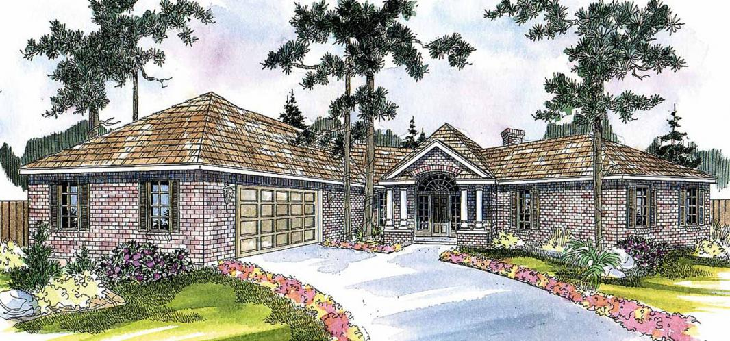 Ranch House Plan - Hamilton 88844 - Front Exterior