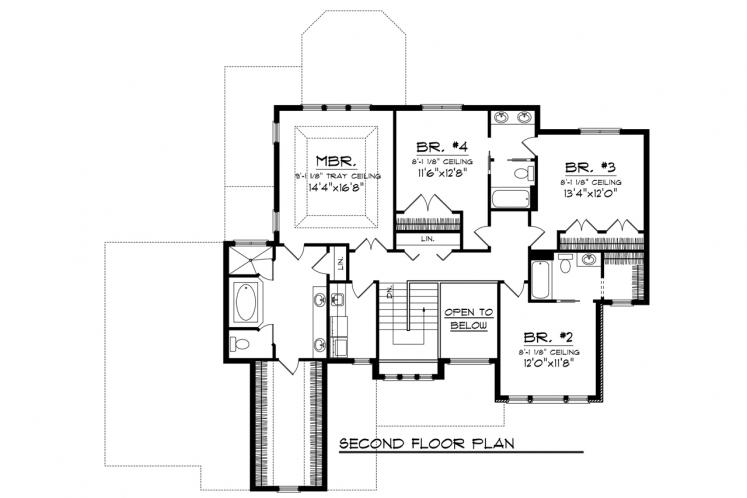 Classic House Plan -  88920 - 2nd Floor Plan