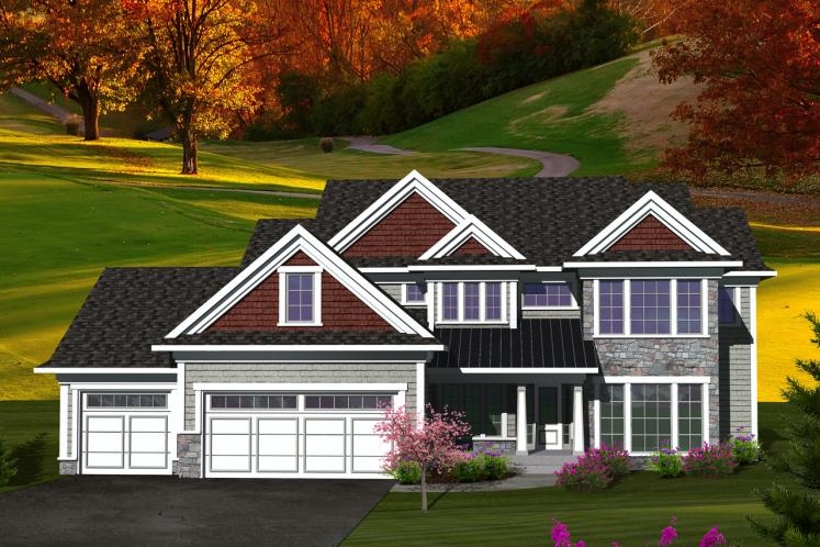 Traditional House Plan -  88920 - Front Exterior