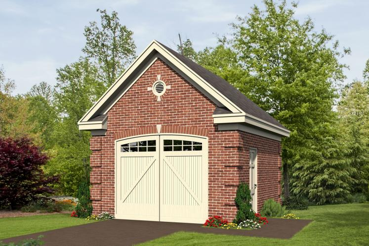Classic Garage Plan -  88949 - Front Exterior