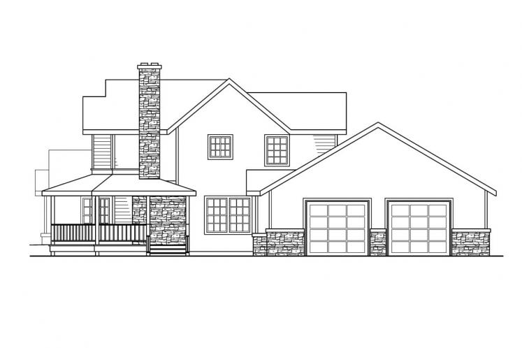 Country House Plan - Hilyard 89018 - Right Exterior