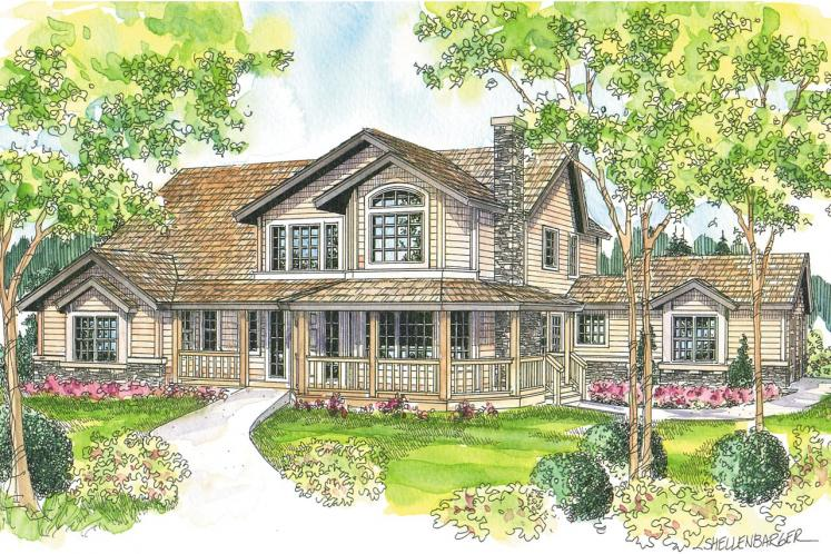 Country House Plan - Hilyard 89018 - Front Exterior