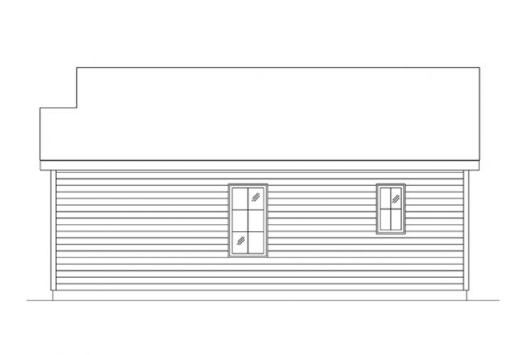 Bungalow House Plan -  89039 - Right Exterior