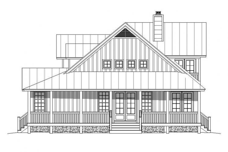 Country House Plan - Peachtree 89202 - Right Exterior