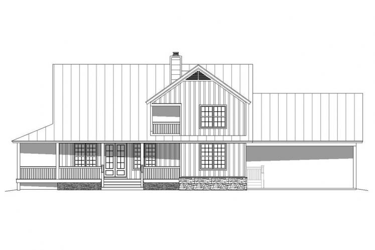 Cottage House Plan - Peachtree 89202 - Rear Exterior