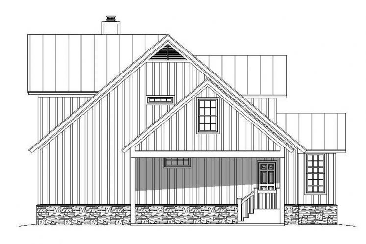 Traditional House Plan - Peachtree 89202 - Left Exterior