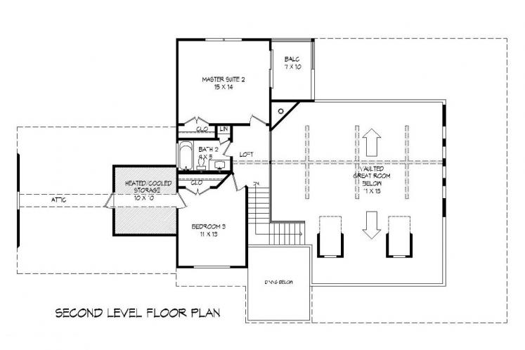 Traditional House Plan - Peachtree 89202 - 2nd Floor Plan