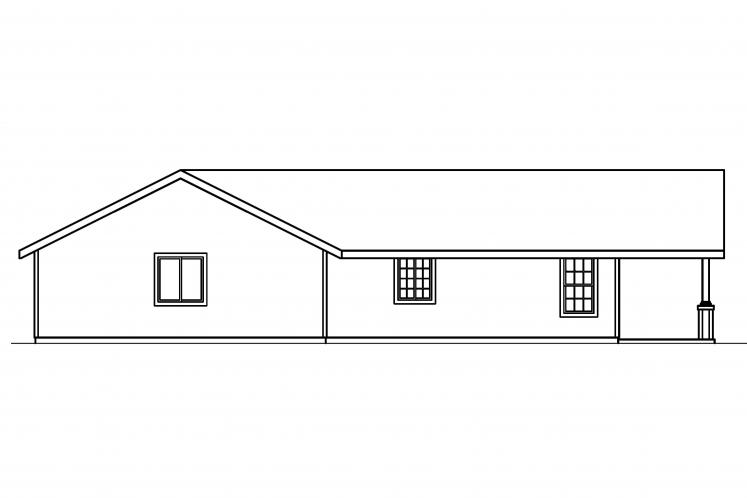 Ranch House Plan - Branell 89311 - Left Exterior