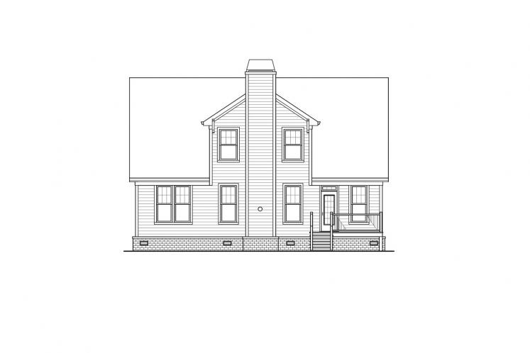 Cottage House Plan -  89353 - Rear Exterior