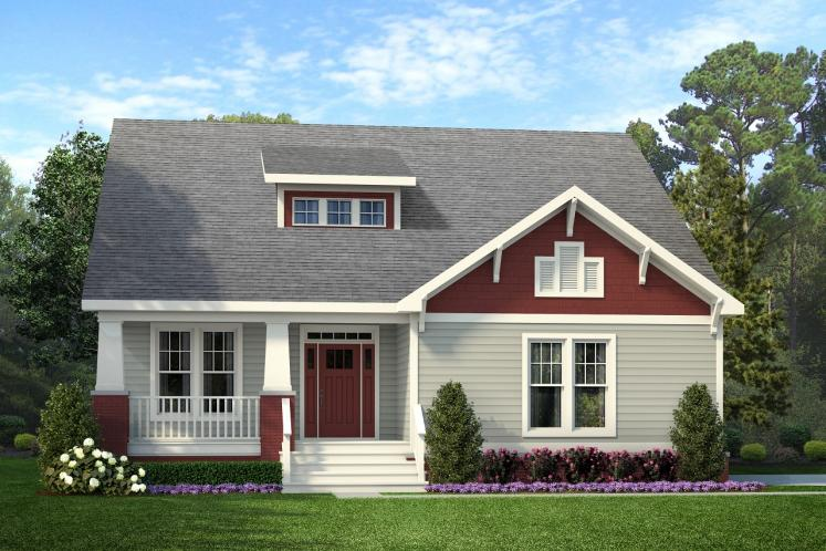 Bungalow House Plan -  89353 - Front Exterior