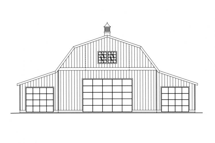 Country Garage Plan -  89368 - Front Exterior
