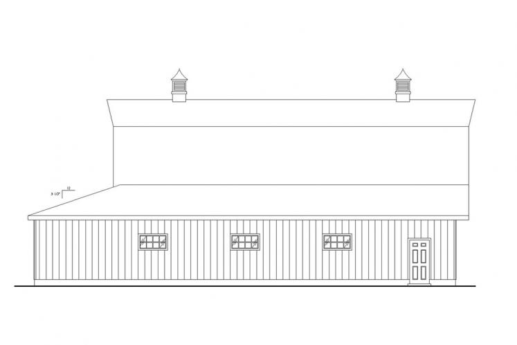 Country Garage Plan -  89368 - Left Exterior