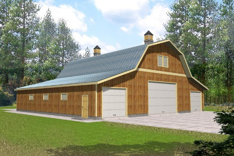 Farmhouse Garage Plan -  89368 - Front Exterior
