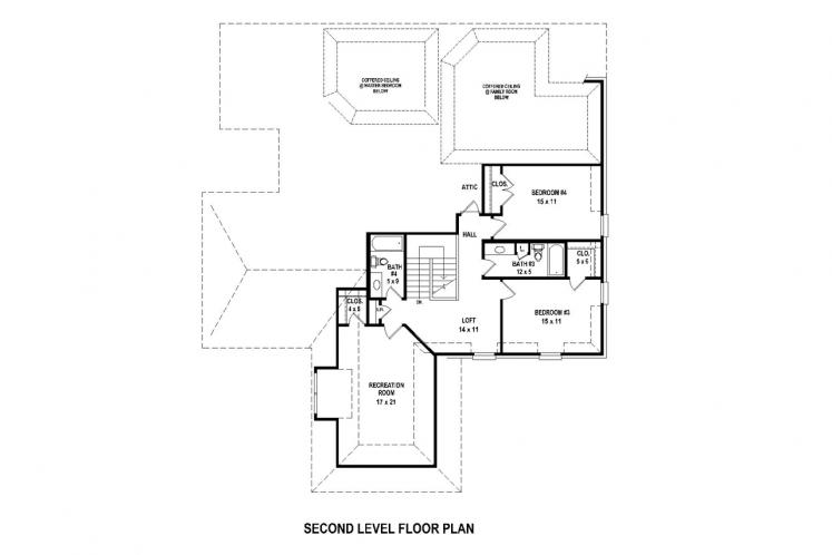 Southern House Plan -  89393 - 2nd Floor Plan