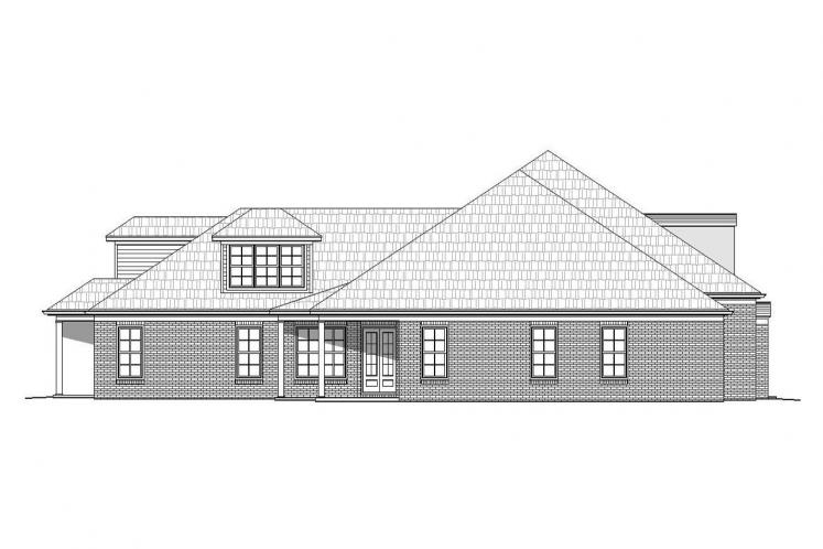 Classic House Plan -  89464 - Left Exterior