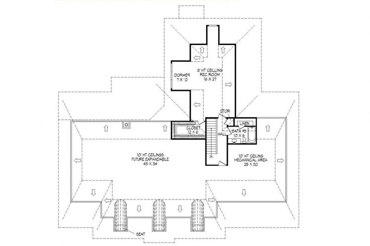 Colonial House Plan -  89464 - 2nd Floor Plan