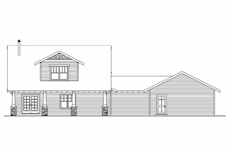 Cottage House Plan - Wisteria 89501 - Rear Exterior