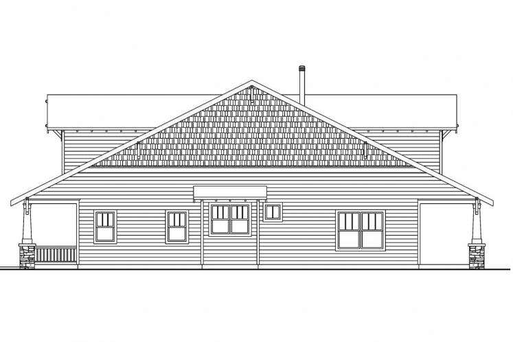 Bungalow House Plan - Wisteria 89501 - Right Exterior