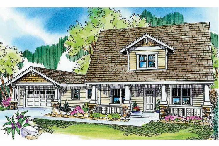 Bungalow House Plan - Wisteria 89501 - Front Exterior