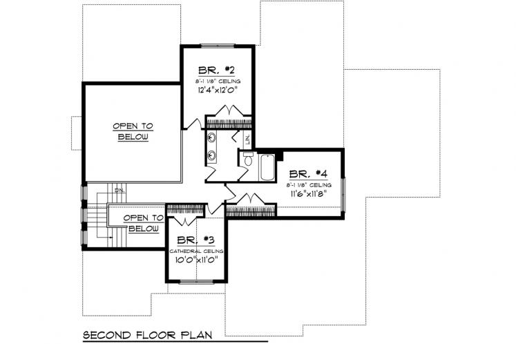 Traditional House Plan -  89533 - 2nd Floor Plan