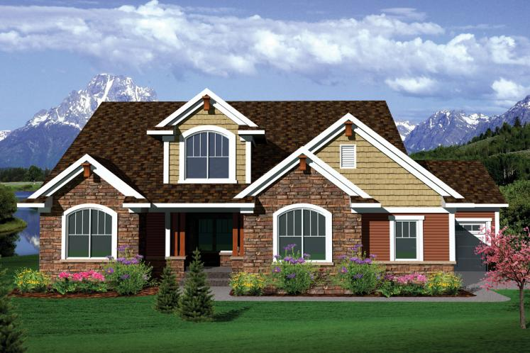 Traditional House Plan -  89533 - Front Exterior