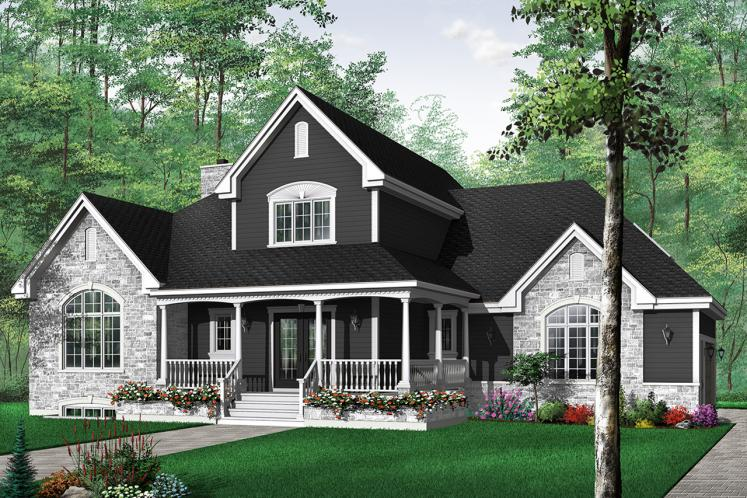 Country House Plan - Glenhaven 89542 - Front Exterior
