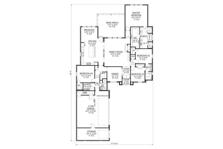 Classic House Plan - Lakeview 89581 - 1st Floor Plan