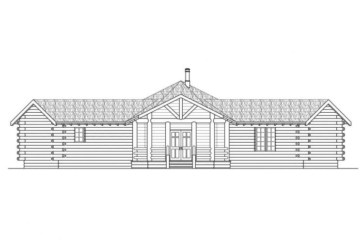 Contemporary House Plan - Ridgeline 89692 - Front Exterior