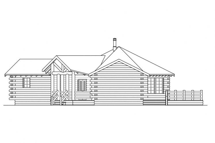 Lodge Style House Plan - Ridgeline 89692 - Right Exterior