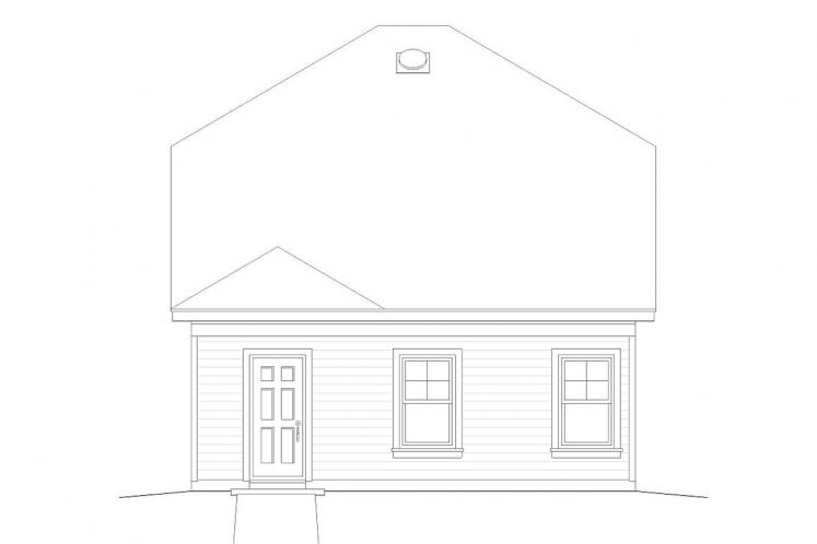 Bungalow House Plan -  89805 - Rear Exterior