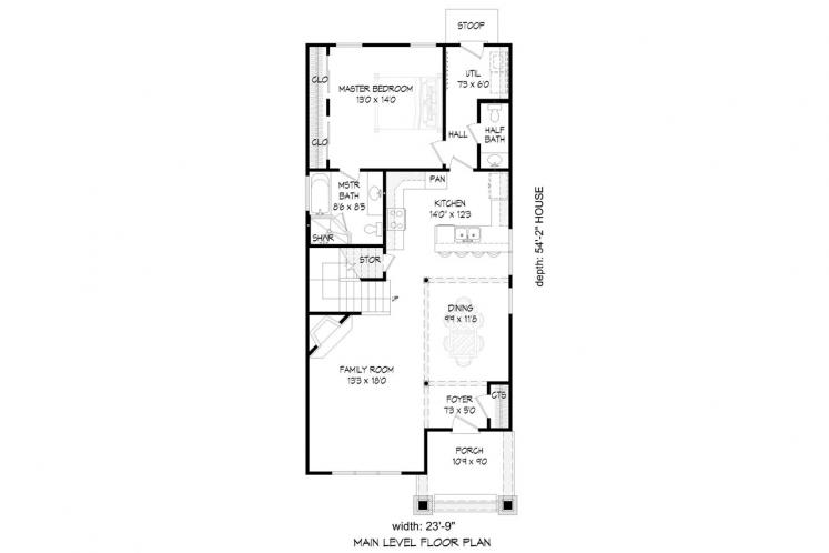 Cottage House Plan -  89805 - 1st Floor Plan