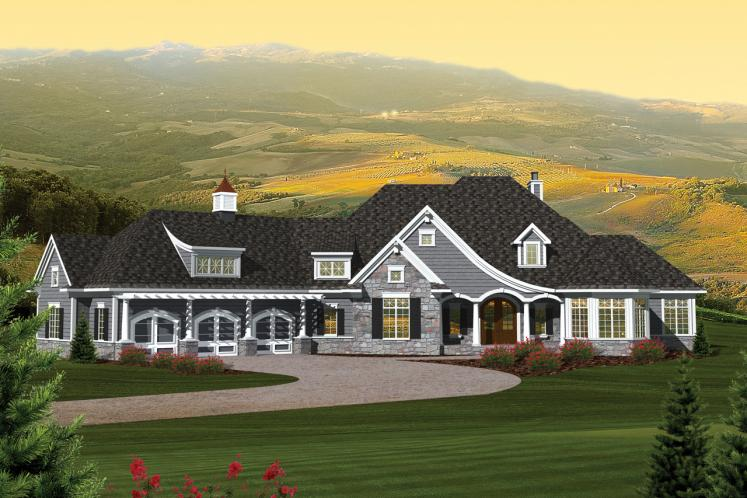 Ranch House Plan -  90133 - Front Exterior