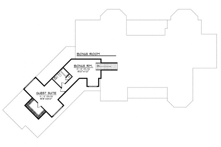 Country House Plan -  90133 - 2nd Floor Plan
