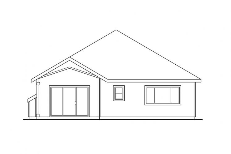 Traditional House Plan - Springdale 90141 - Rear Exterior