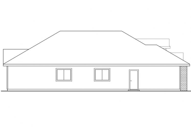 Country House Plan - Springdale 90141 - Left Exterior