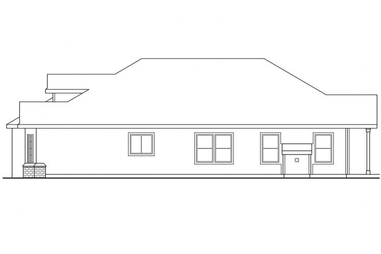 Traditional House Plan - Springdale 90141 - Right Exterior