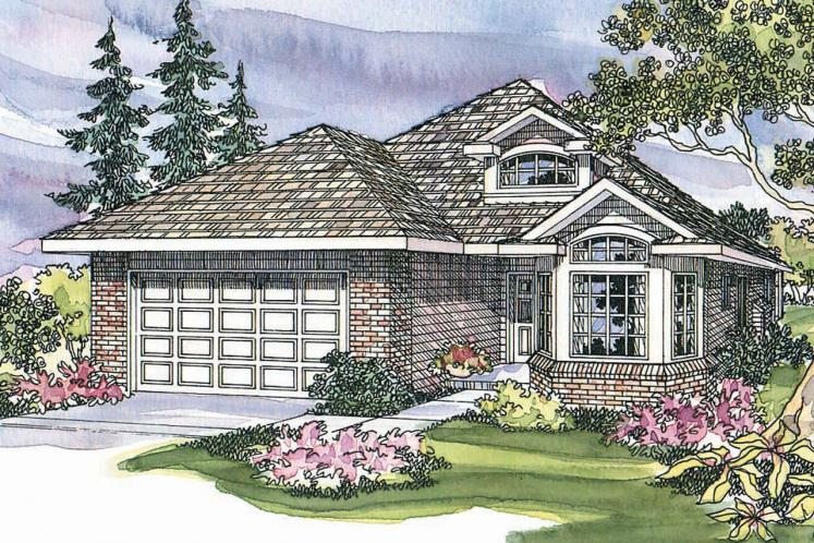 Country House Plan - Springdale 90141 - Front Exterior