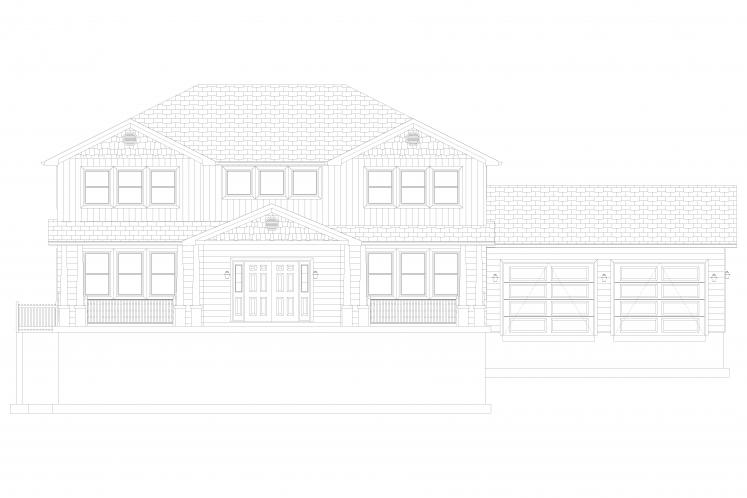 Craftsman House Plan - Campbell 90261 - Front Exterior